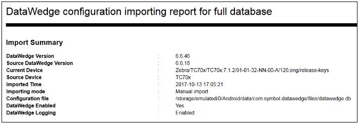 Datawedge Settings Zebra Technologies Techdocs