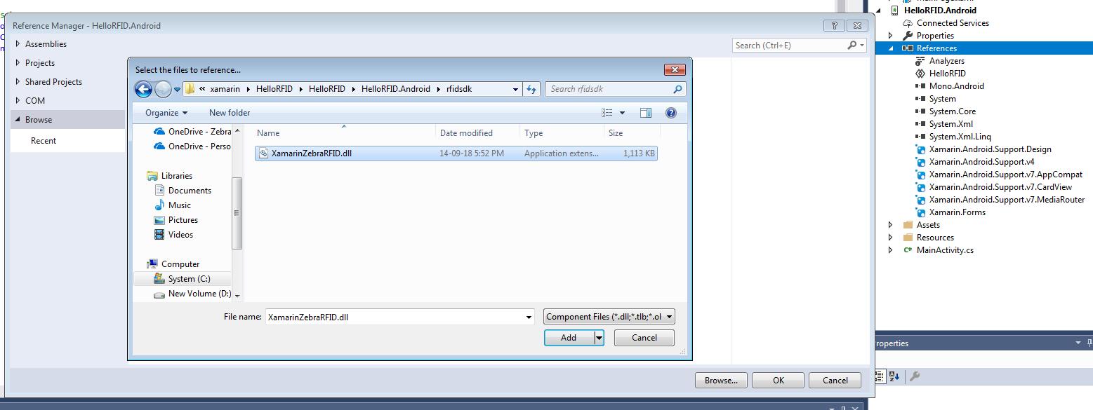 Creating Project using Visual Studio - Zebra Technologies