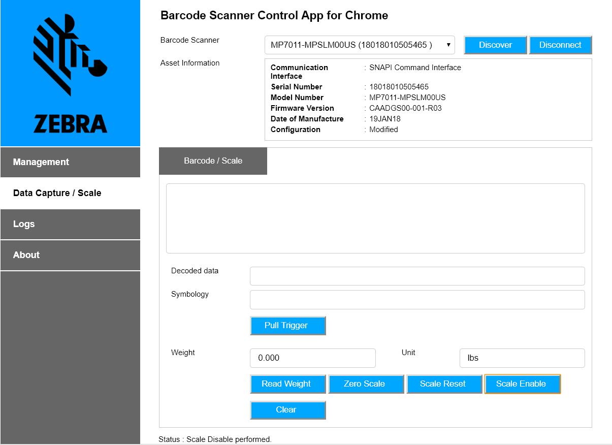Scanner SDK for Chrome OS - Get Started - Zebra Technologies