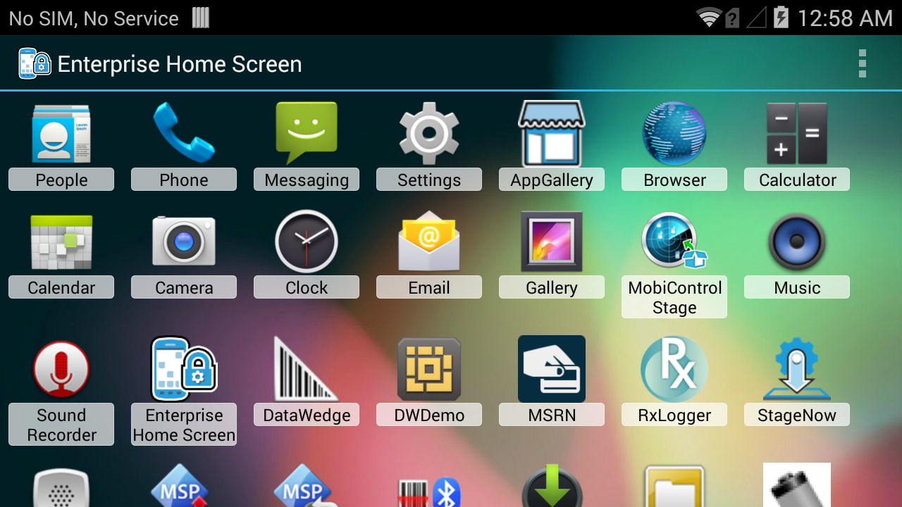 Enterprise Home Screen Setup - Zebra Technologies TechDocs