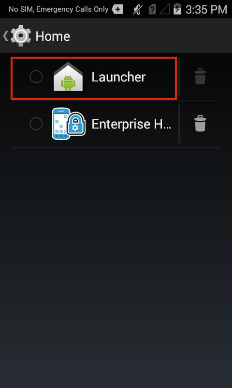 Enterprise Home Screen Setup - Zebra Technologies TechDocs