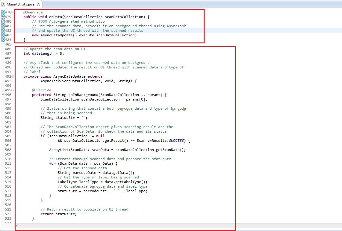 Advanced Scanning Tutorial using Barcode API - Zebra