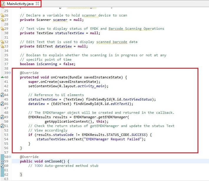 Basic Scanning Tutorial using Barcode API - Zebra