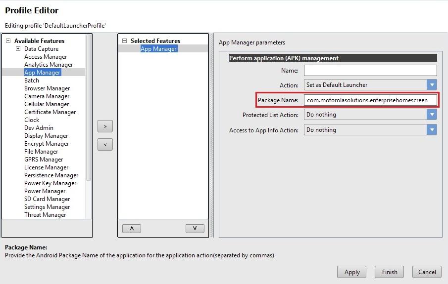 Set Default Launcher Application Using App Manager Zebra Technologies Techdocs