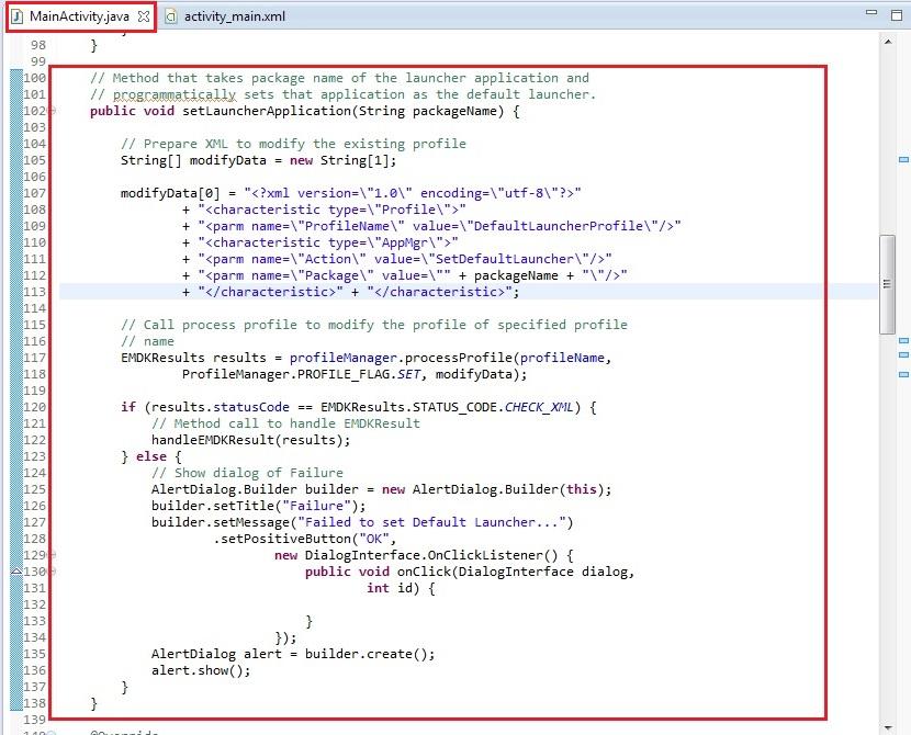 Set Default Launcher Application Using App Manager - Zebra