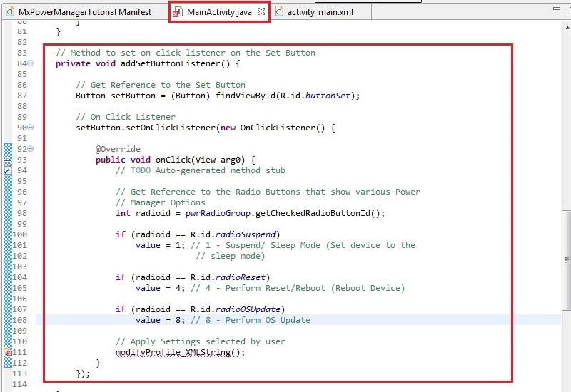 Power Management using Power Manager API - Zebra Technologies Techdocs
