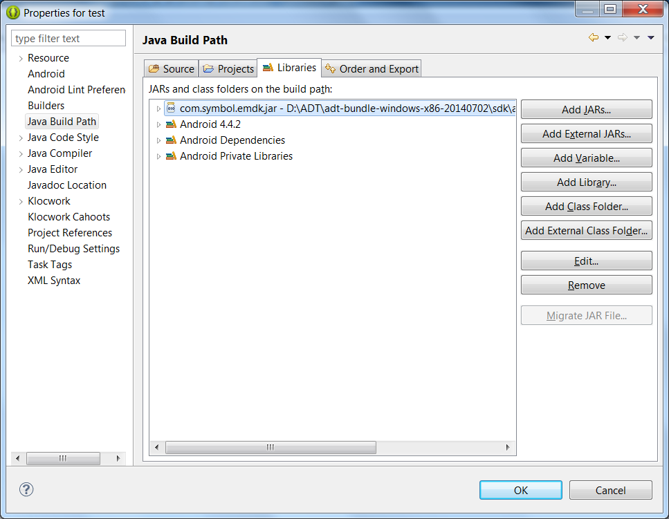 EMDK For Android Setup (Eclipse) - Zebra Technologies Techdocs