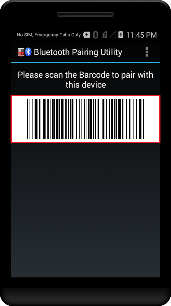 Pairing with Bluetooth Scanning device using Bluetooth