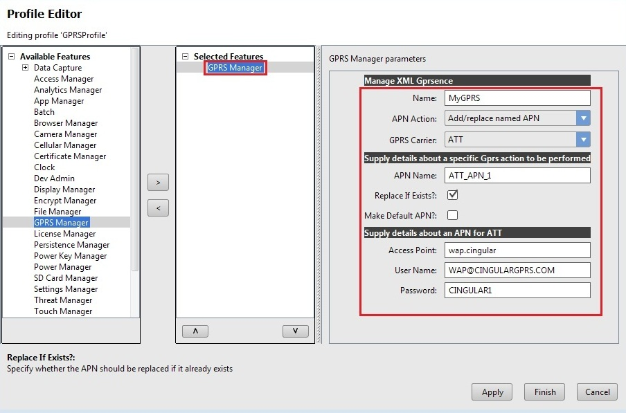 Configure Access Points using Mx GPRS Manager - Zebra