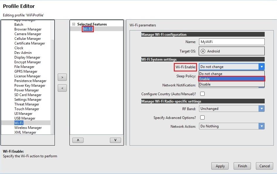 Configure Wi-Fi settings and Network Profiles using Mx Wi-Fi - Zebra