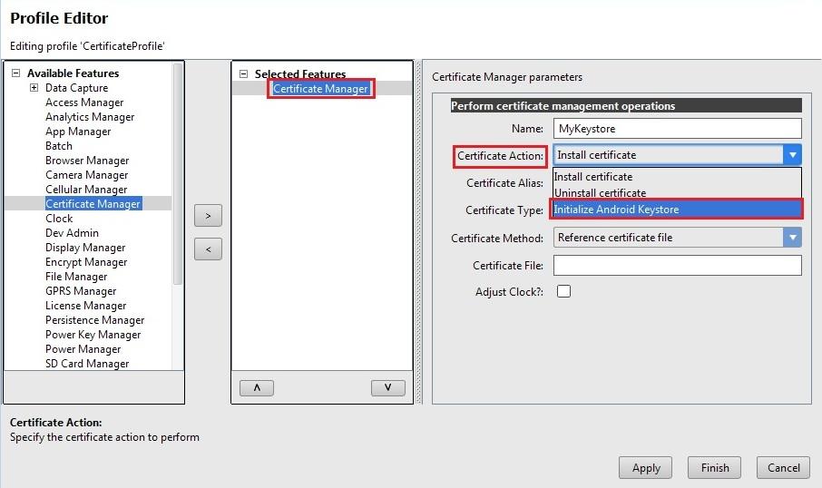 Install Ca Certificate Using Certificate Manager Zebra