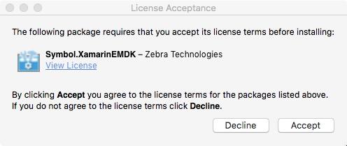 EMDK for Xamarin NuGet Install (beta) - Zebra Technologies Techdocs