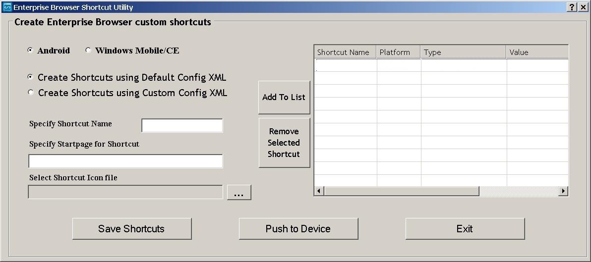 Shortcuts and the Shortcut Utility - Zebra Technologies TechDocs
