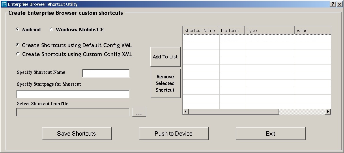 Shortcuts and the Shortcut Utility - Zebra Technologies TechDocs
