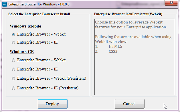 Enterprise Browser Setup - Zebra Technologies TechDocs