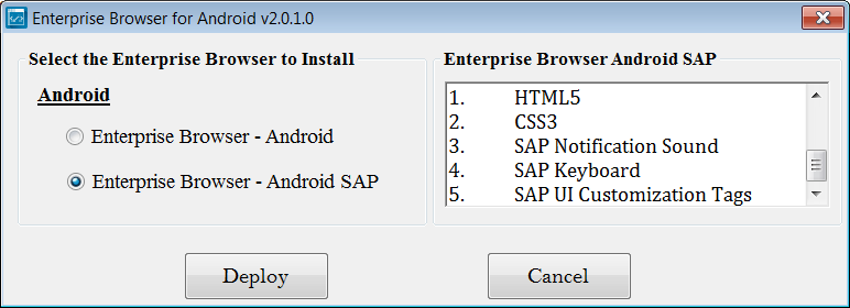 Enterprise Browser Setup - Zebra Technologies TechDocs