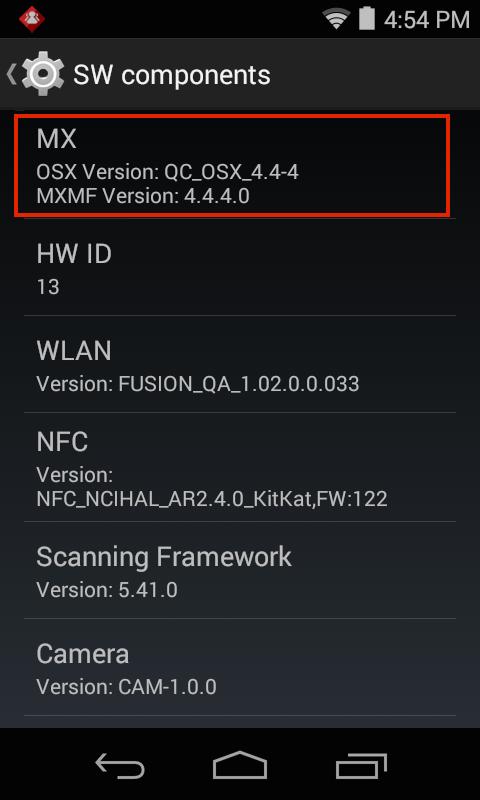 Which MX/OSX is Installed? - Zebra Technologies Techdocs
