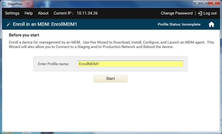 Enroll in an MDM - Zebra Technologies TechDocs