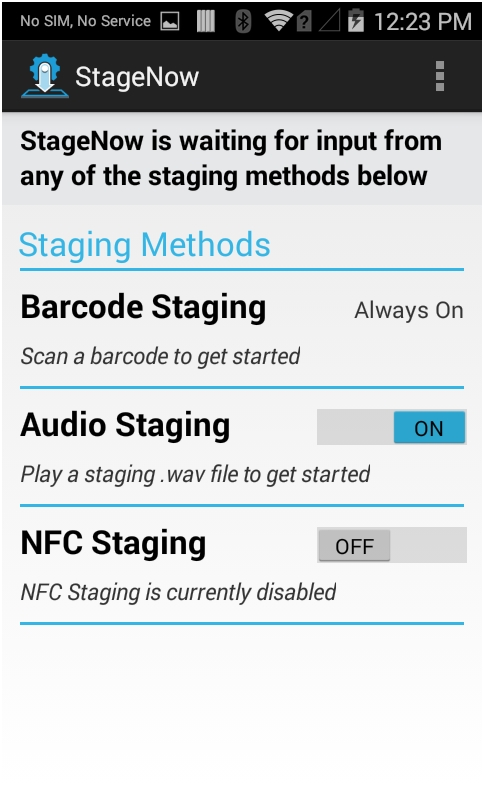 Device Staging - Zebra Technologies Techdocs